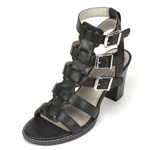 White Mountain Gemmy Leather Block Heel Sandal